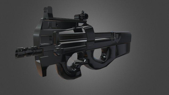 FN P90 REMAKE | SMG | 3D Model