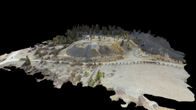 Historic Gold Mine Tailing Pile 3D Model