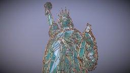 Remixed Atom Statue Of Liberty 3D Model