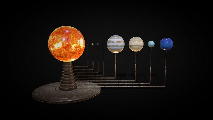 Solar System Model (Orrery) 3D Model