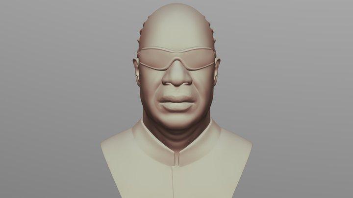 Stevie Wonder bust for 3D printing 3D Model