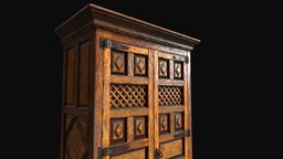 Spanish Cupboard 3D Model