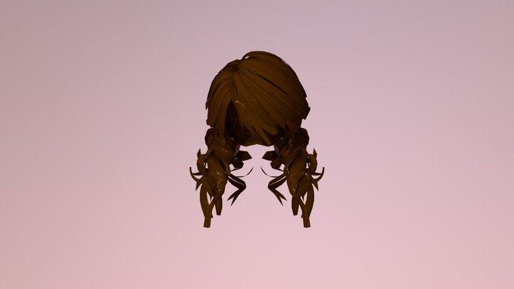 3d Beautiful Style Hair 3D Model