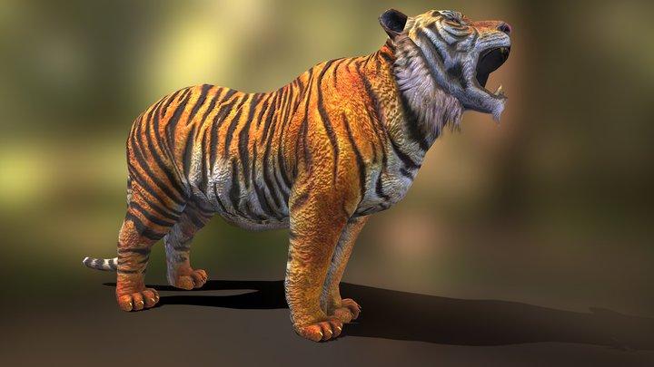 tiger howl v04 3D Model