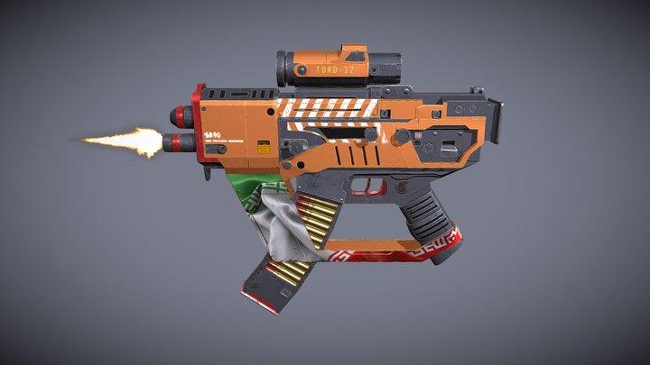 Animated Game-Ready Sub-Machine Gun 3D Model