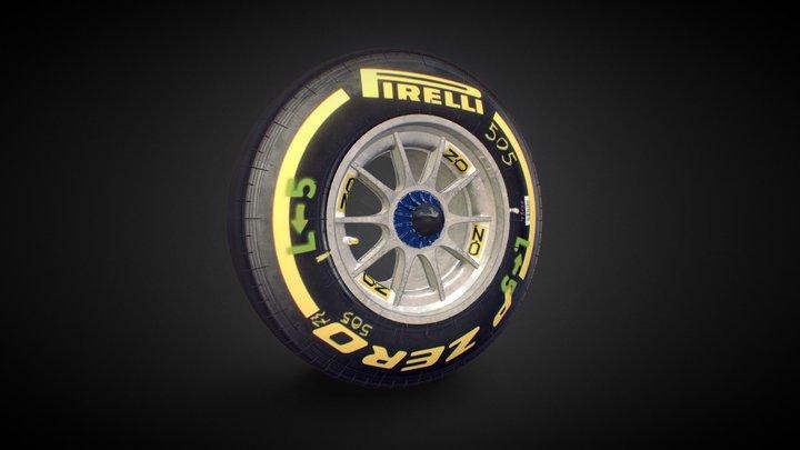 Ferrari F2012 Wheel 3D Model