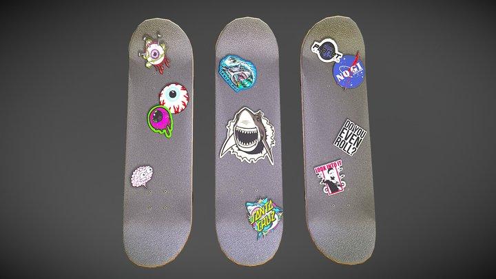 Original Skateboard Designs 3D Model