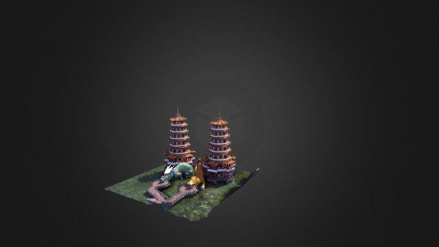 龍虎塔 3D Model