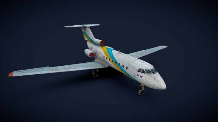 Yakovlev Yak-40 (3D scan for 25 minutes) 3D Model