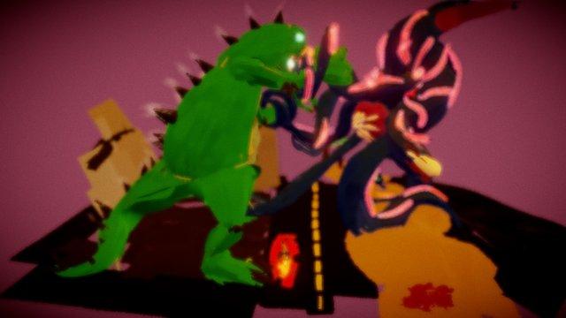 monster battle 3D Model
