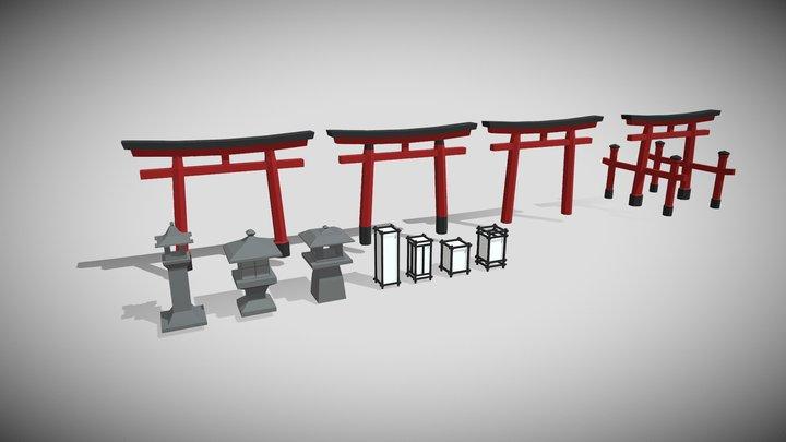 Low Poly Japan 1 3D Model
