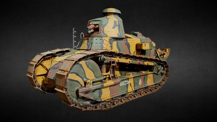 Renault FT Light Tank 100th Anniversary! 3DScan 3D Model