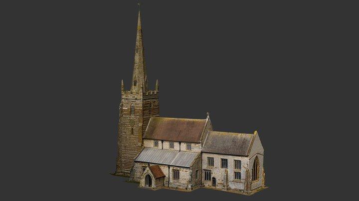 All-Saints-Church-Ladbroke 3D Model