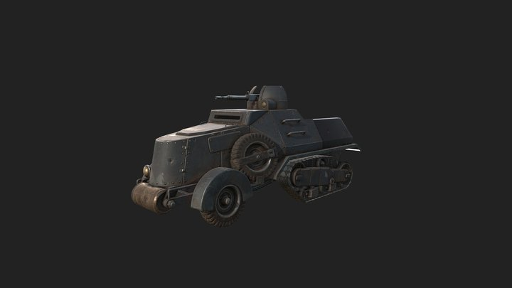 Foxhole - Warden Half Track 3D Model