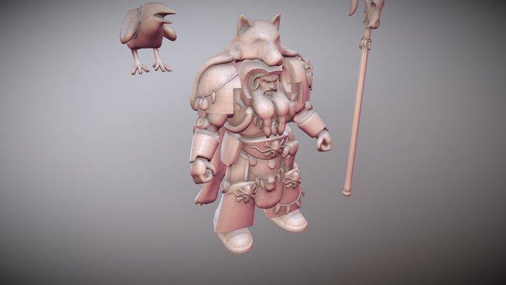 Rune Priest 3D Model