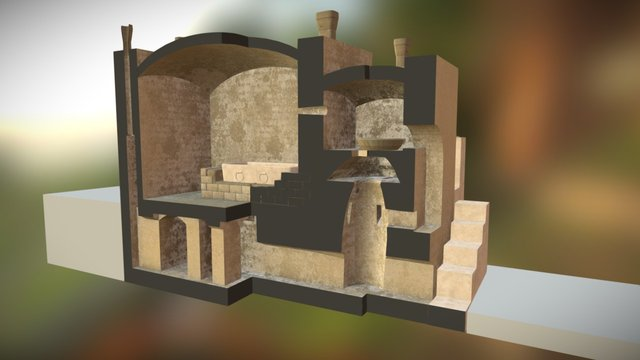 Karanis Bath Section 4 3D Model