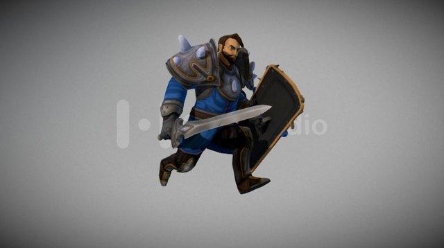 Darmian the Warrior - BattleSouls Character 3D Model
