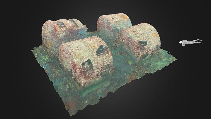SS Panama, Boilers: Expedition Isla Margarita 3D Model