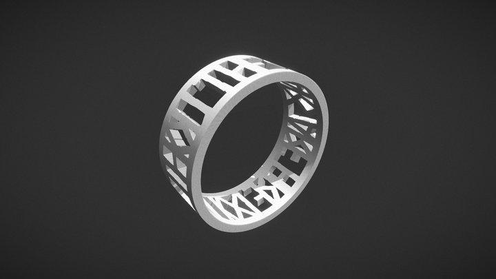 Hamlet Quote Ring 3D Model
