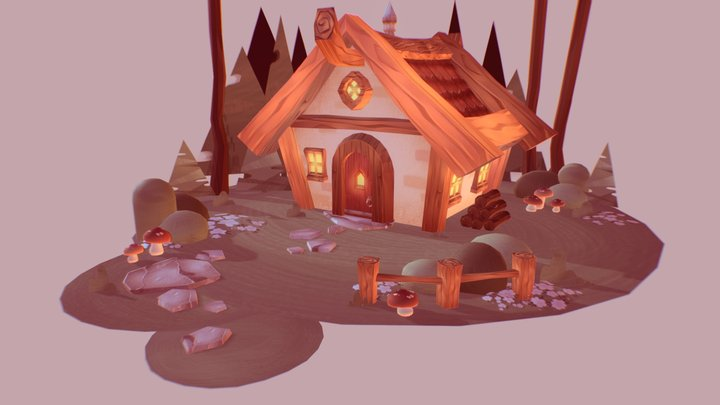 cozy cabin 3D Model