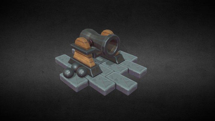 Stylized - Cannon 3D Model