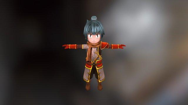 Baby Warrior 3D Model