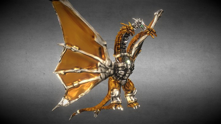 Replace Zbrsh 機械基多拉 3D Model