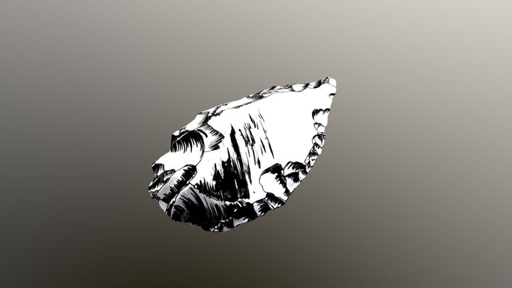 Modern Flint Arrowhead 3D Model