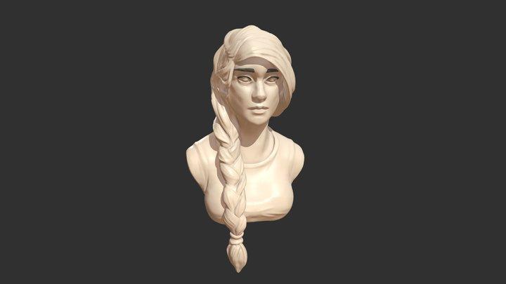 Woman portait HD 3D Model