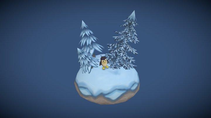 Winter Island 3D Model