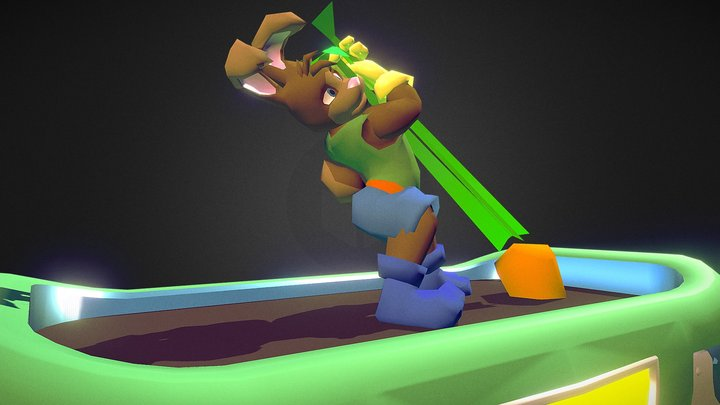 Gemmie that Carrot! [Animated] 3D Model