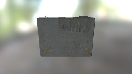 wall with rag 3D Model