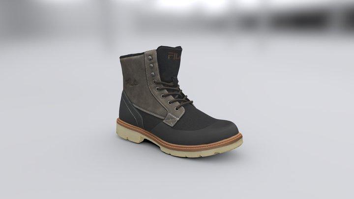 Fila Lace-up Boots 3D Model