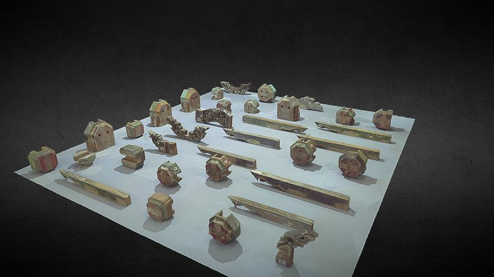 木構造組件_#2。3D面模 3D Model