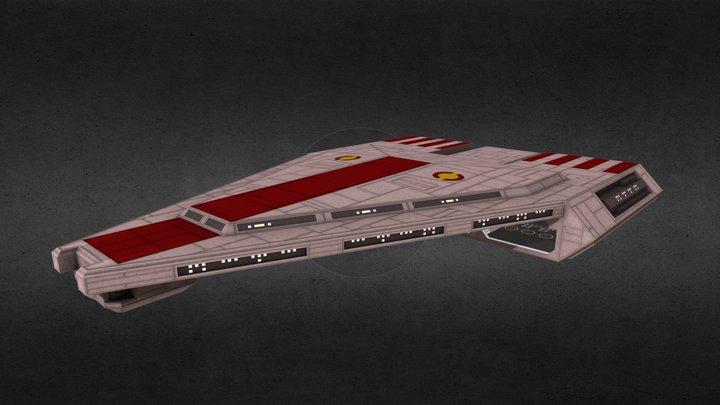 Republic Quasar-class Carrier/Cruiser 3D Model