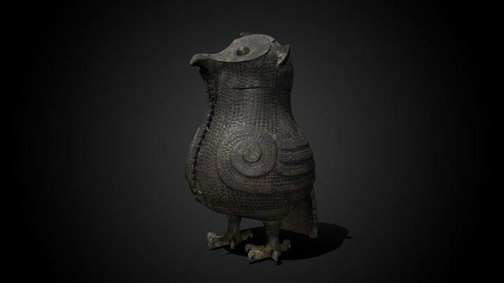 Owl 'Zun' wine vessel, 13th-12th century BCE 3D Model