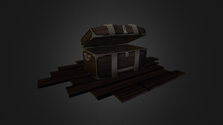 Low Poly Chest 3D Model