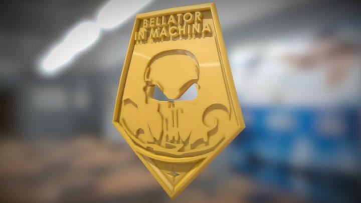 XCOM Badge: BELLATOR IN MACHINA 3D Model