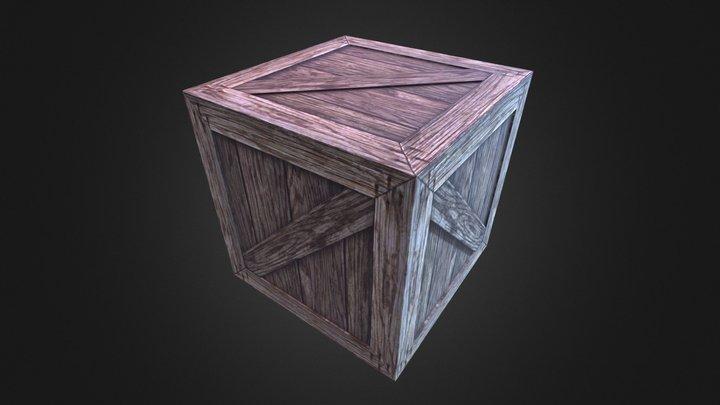 Wood Box 2 3D Model