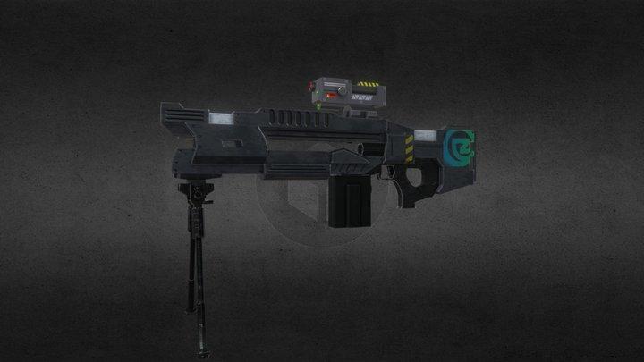 Railgun weapon 3D Model