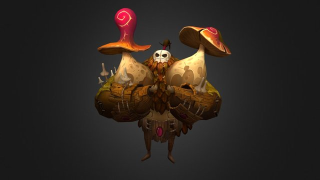 Mushroom Golem 3D Model