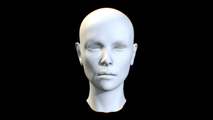 CHARLIZE THERON_HEAD 3D Model
