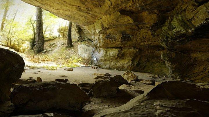 Petit Jean Rock House Cave 3D Model