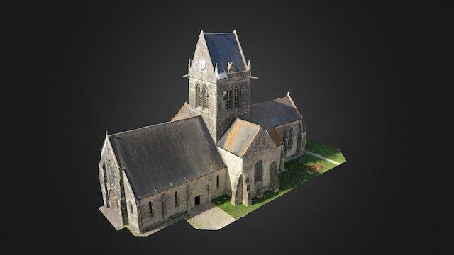 Sainte-Mère-Eglise, Manche 3D Model