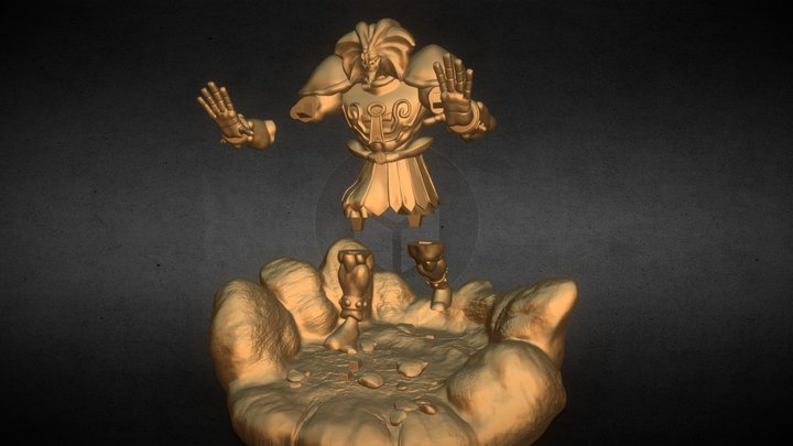Exodia The Forbidden (Separate Parts) 3D Model