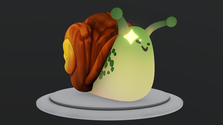 Smug Snail 3D Model