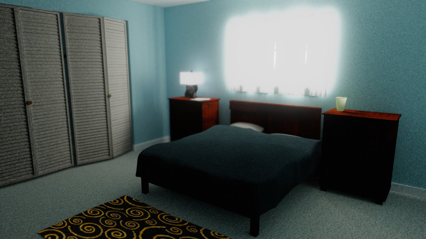 Bedroom - Blender Cycles Baked - Download Free 8D model by