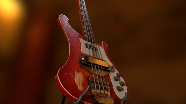 Rickenbacker 4001 Bass 3D Model