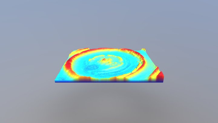 Richat Structure Mauritania 中央部の地形3Dモデル 3D Model