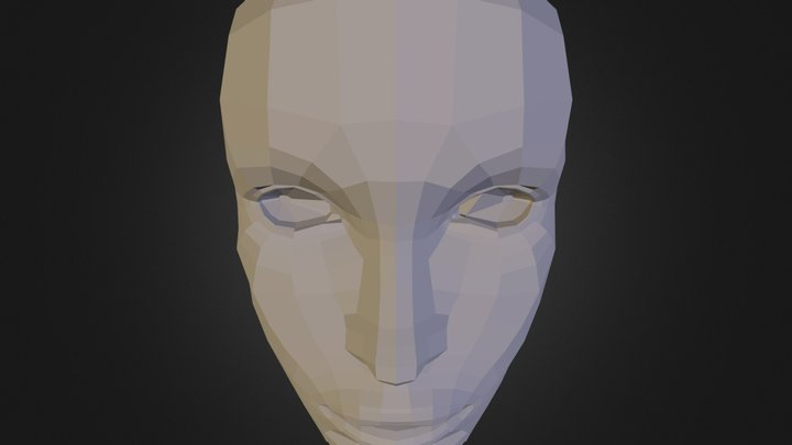 Female Head Retopo 3D Model